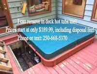 Hot Tub Removal & Disposal Service Nanaimo Parksville Qualicum