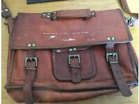 Real Vintage Leather Satchel