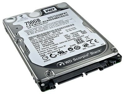 "Western Digital Black 750gb 2,5"" (Wd7500bpkt) 16mb Sata-300 7200rpm Festplatte"