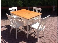 French Country Shabby Chic Table and 4 Chairs