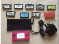 RARE hot pink game boy micro