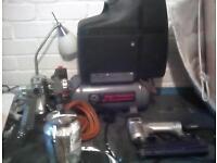 Compressor nail gun spray pot and drill