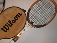 COLLECTABLE VINTAGE WOOD TENNIS RACKETS (1960 to 1985)