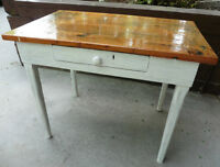 Very old kitchen table solid pine.