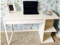 White desk/Dressing Table used as a make up table