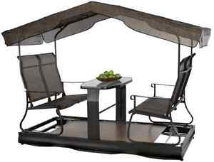 balancoire en c dre mobilier pour terrasse et jardin longueuil rive sud kijiji. Black Bedroom Furniture Sets. Home Design Ideas