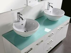 Bathroom Vanities Unit New Cabinet Basins Glass Top Basins 1500mm Underwood Logan Area Preview