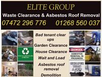 Asbestos roof removal waste clearance and demolition