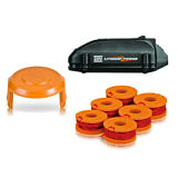 20V Worx Lithium Tune Up Kit  (1) Battery, (1) 6pk Spools, (1) Cap Cover