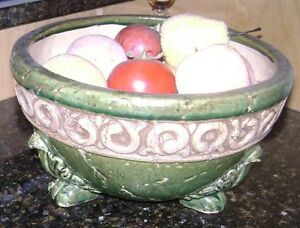DECORATIVE FRUIT BOWL WITH FAKE FRUITS Moncton New Brunswick image 1