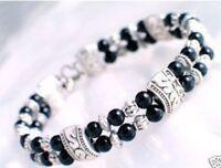 Charming tibet silver black Jade bracelet--NEW!