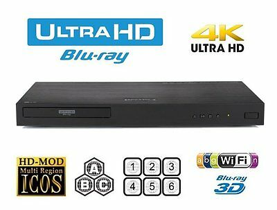 LG Ubk-90 MULTI ZONE ALL REGION FREE 4K ULTRA HD UHD HDR 3D BLU-RAY DVD
