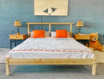 DELIVERY TODAY Double Wooden bed with mattress QUICK SALE Perth Region Preview