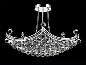 Crystal Chandelier Luxury Semi Flush  *** Brand New in a Box ***
