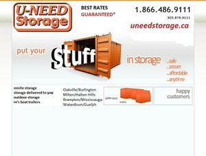 OAKVILLE STORAGE BEST RATES!!! INDOOR AND OUTDOOR