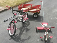 "Red Flyer Trike, Avigo Girl's ""BMX""  style bike, Childrens Wagon"