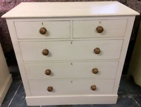 Hand Painted Edwardian Pine Chest of Drawers