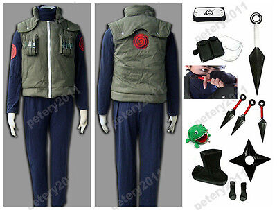 Children Naruto Hatake Kakashi Deluxe Cosplay Costume Halloween Clothing for sale  China