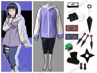 Naruto Anime cosplay Hyuga Hinata Costume Uniform Halloween Set Anime  - Hinata Hyuga Halloween Costume