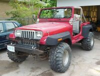 1988 Jeep YJ Wrangler Lifted 33 Inch Super Swamper Prime Wheels