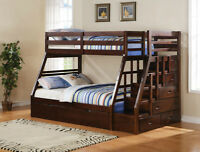 SOLID WOOD BUNK BEDS FROM $299