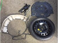 Vauxhall Zafira C Tourer Spare Wheel Mounting Cage Kit and space saver wheel tyre, jack, wrench