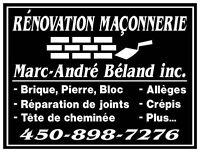 Rénovation Maconnerie M.A.B Inc. R.B.Q 5640-6952-01