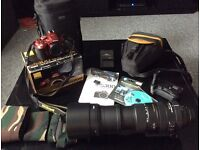 Boxed Nikon D5300 Digital SLR Camera, Sigma DG 150-500mm APO Lens, many accessories