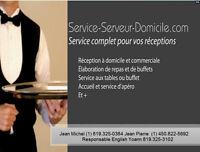 SERVICE SERVEUR A DOMICILE POUR VOS RECEPTIONS CHEZ VOUS