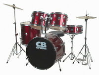 CB Drum Set 5 pieces Red, full-size, mint condition!