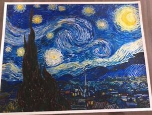 Starry night by Vincent van Gough ( canvas print). RRP$45 Mornington Clarence Area Preview