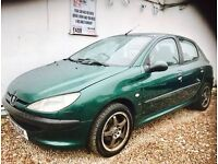 ★🚗★ PEUGEOT 206 1.9 LX DIESEL ★MOT MARCH 2017★ 8 SERVICE STAMPS ★ IDEAL FOR COMMUTING ★KWIKI AUTOS★