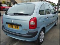 CITROEN PICASSO 1.8, 2001, mpv, MANUAL, 128k, long mot, drives well,