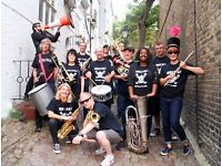 Trumpet, alto tenor horn, trumpet, tenor and baritone sax wanted for punk brass band