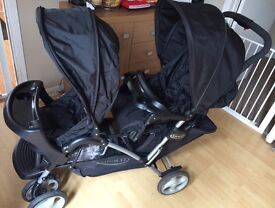 Graco stadium duo double pushchair/buggy