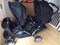 Graco stadium duo double pushchair/buggy
