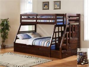 Kid Bunk Bed, Trundle Bed, Kid Bedroom Set on Sale