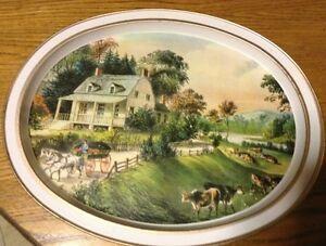 VINTAGE  THE AMERICAN HOMESTEAD-SUMMER 1868 BY CURRIER & IVES