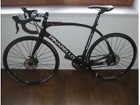 Very rare Pinarello Mercurio Carbon hydraulic disc road bike. Size large. As new