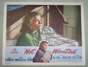 ORIGINAL FILM NOIR NOT WANTED 1949 LC IDA LUPINO