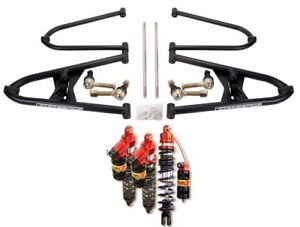 TRX 450R Chromoly  Alba A Arms +2 +0  Elka Legacy Stage 3 Front Rear Shocks