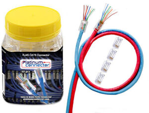 End-Pass-Through RJ45 CAT6 Ethernet one-piece Network connector