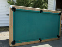 POOL TABLE with cues sticks and balls