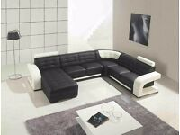 Kavall large corner sofa with free round coffee table
