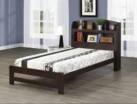 Platform Bed w/ Bookcase Headboard-CADEAUX VILLA