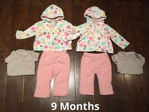 9 Month Carters Fleece Outfits
