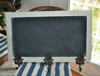 Chalkboard with Coat Hooks