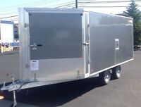 6.5X16 ENCLOSED UTILITY TRAILER FOR ATV, MOTORCYCLE, SNOWMOBILE