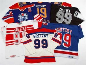Wayne Gretzky game used worn jersey gloves helmet stick values Edmonton Edmonton Area image 9