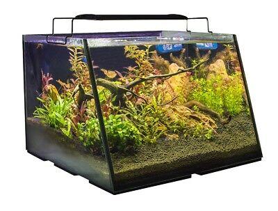 5 Gallon Aquarium w/ Led Light Glass Tank Kit Fish Full View Filter Pump Net